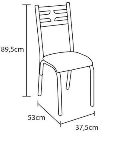 Mesa de granito 4 cadeiras preta - Foto 5