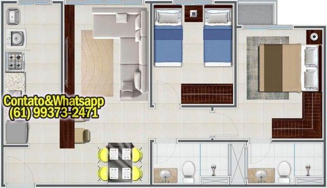 Apartamento em Goiânia, 2Q (1Suíte), 55m2, Garagem, Lazer Completo! Parcela. - Foto 11