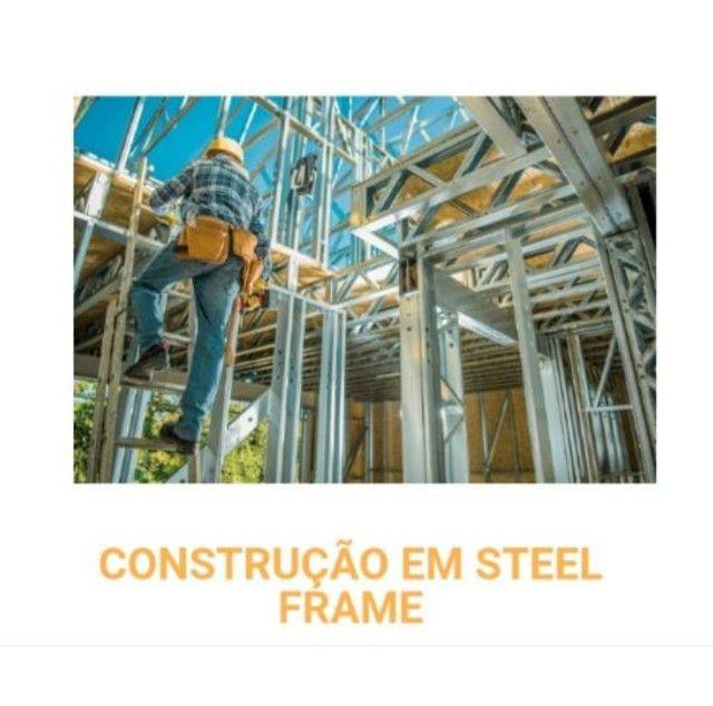 Steel Frame (CASAS AMERICANAS) (CASA EUROPEIA) melhor preço de Curitiba - Foto 5