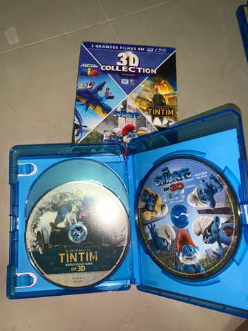 DVD Blu-ray 3D Rio, Os Smurfs e As Aventuras de Tintim - Foto 3