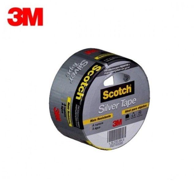 Fita Silver Tape 45mm X 5mts  Cinza 3m - Foto 2