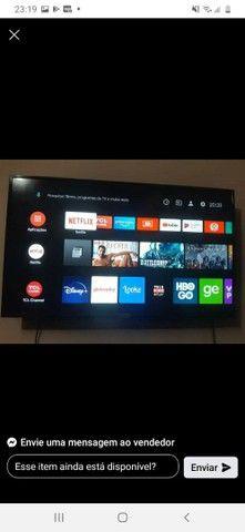 Vendo TV smart 43 polegadas com nota fiscal está semi nova - Foto 4