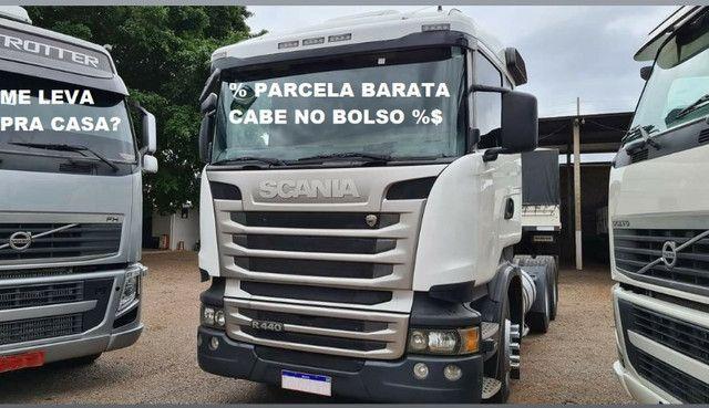 Scania g380 g420 volvo fh440 460 man iveco mercedes carretas - Foto 6