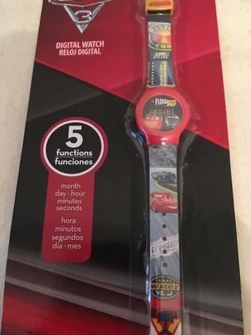 Relógio Digital infantil Carros Original
