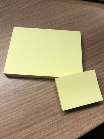Post it ungido + mini post it da unção - Modelo u32bi49