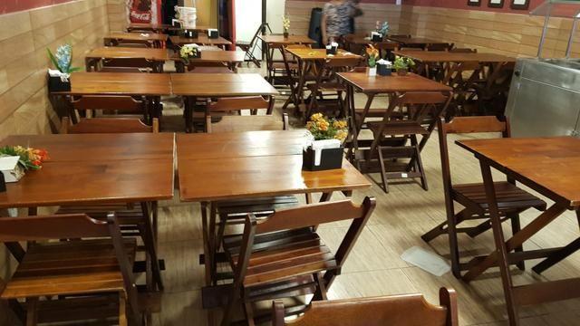 Vendo mesas e cadeiras - Foto 3