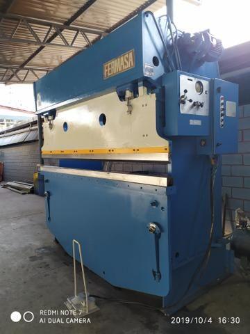 Casal de máquinas para corte e dobra, dobradeira e guilhotina 3 metros para 6 mm - Foto 3