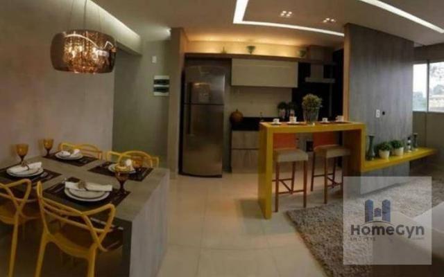 Apartamento 2 quartos no porcelanato parque amazônia/vila rosa goiânia - go - Foto 2