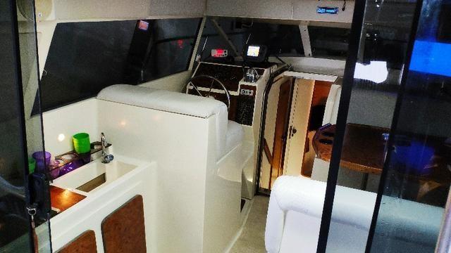 Lancha obra Capri 32 Fly - Barco de represa! Oportunidade única!! - Foto 8