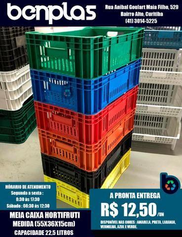Meia caixa Hortifrutigranjeira - Novas 55x36x15cm