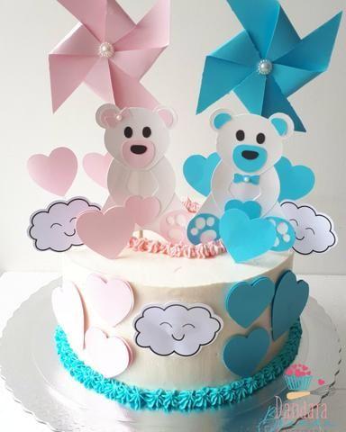Bolos decorados, doces e tortas