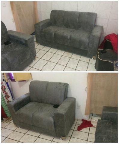 Conjunto sofá 550,00 avista frete grátis