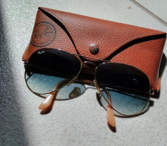 9117cf0e3a260 Óculos de sol Ray Ban Original - Modelo Aviador - azul degradê ...
