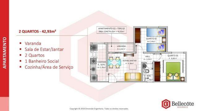 Bellecôte Residence, apartamento com entrada facilitada ao lado do mix mateus maiobão - Foto 11