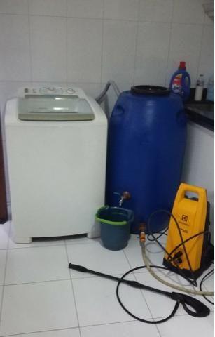Tambor Cisterna 250 Litros Completa Com Torneira e Registro VAP - (Reservatório/Bombona/Ba
