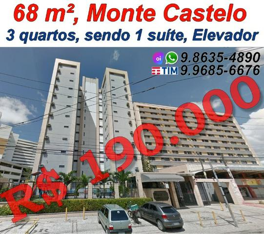 Apto no Monte Castelo, 190 mil, Elevador, 68 m², 3 quartos, 1 vagas, Belvedere Park