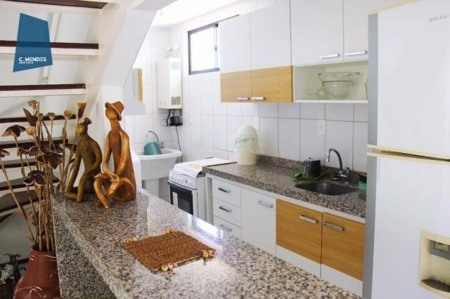 Apartamento Duplex com 5 dormitórios para alugar, 130 m² por R$ 4.500,00/mês - Mucuripe -  - Foto 7