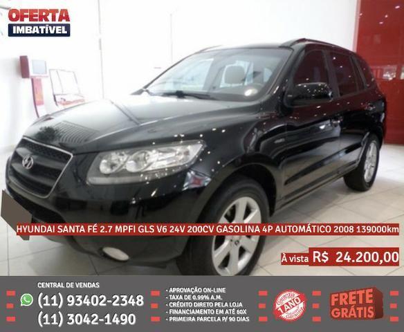 Preto Hyundai santa fé 2.7 gasolina 4p automático 2008 R$ 24.274 139000km