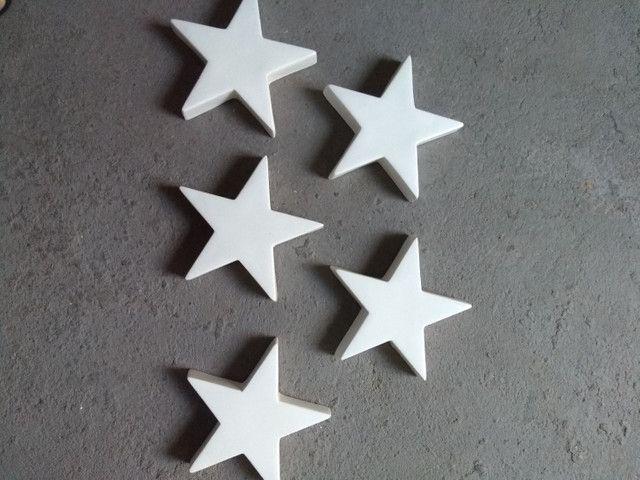05 estrelas em fibra de vidro decoração