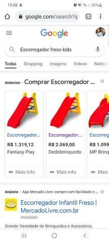 Escorregador Playground Freso Kids Casinha Brinquedo Usados - Foto 4