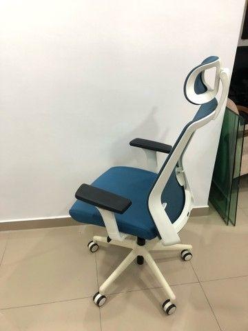 Cadeira de escritório super nova c encosto  - Foto 2