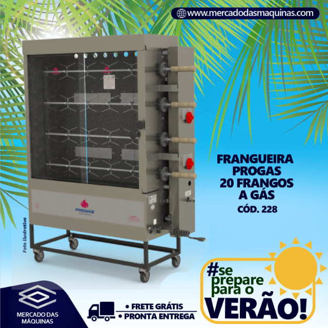 Frangueira Progas a gás 20 frangos Nova Frete Grátis