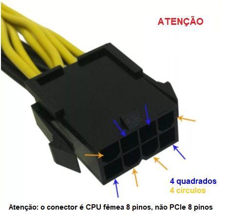 Londrina | Cabo conversor PCIe 8 pinos para duplo 8 pinos (6 + 2) PCIe - Foto 3