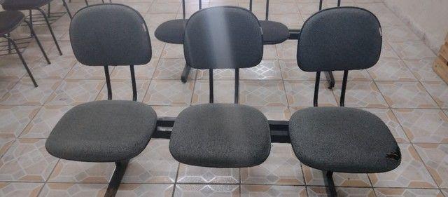 Kit de 3 cadeiras para escritório - Foto 5