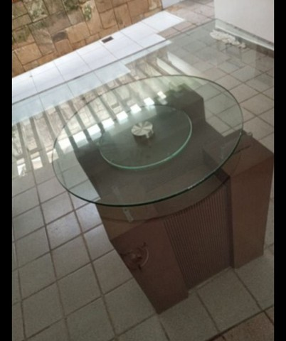 Mesa de Vidro e madeira  - Foto 2