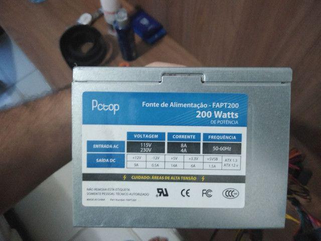 FONTE PARA PC - PC TOP 200W - Foto 4