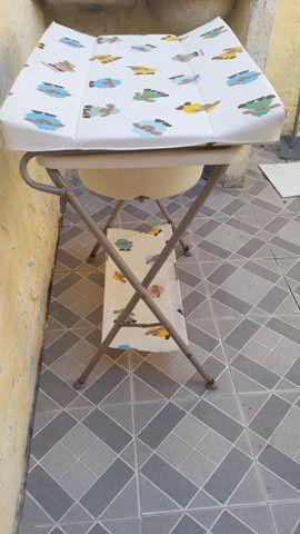 Trocador de fraldas e banheira  - Foto 4