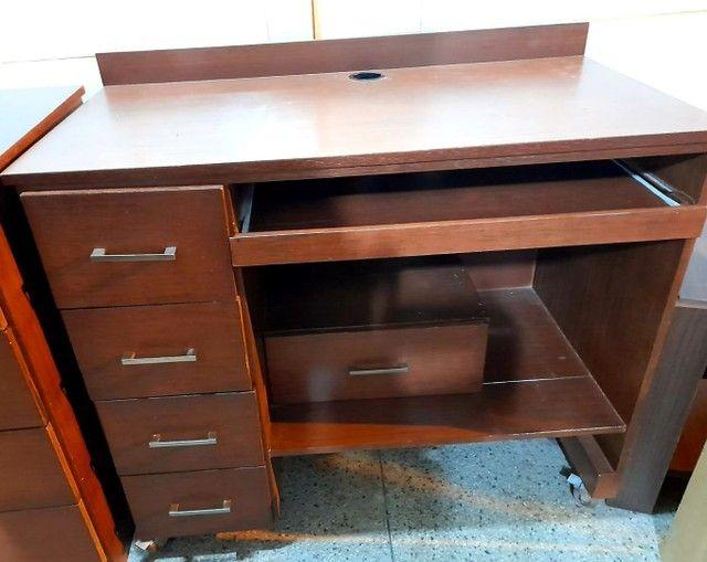 Mesa de computador madeira maciça