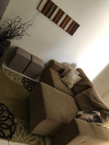 Sofá, tapete, quadro, 3 capas de almofada  - Foto 3