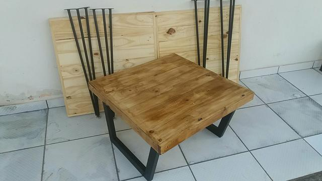 Mesa de centro rústica ( pinus)