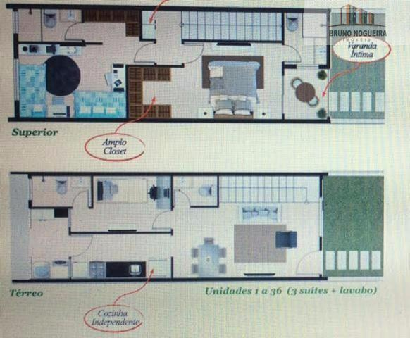 Casas duplex em condominio no eusebio com 3 quartos e lazer - Foto 20