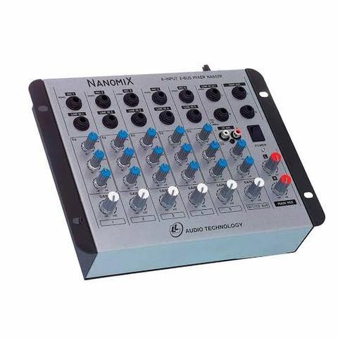 Mesa de Som Mixer Nanomix LI Audio Na60r 6 canais