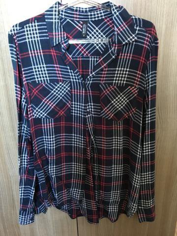 Camisa Side Walk Quadriculada Xadrez - P - Roupas e calçados - Vila ... 2091e14bab7be
