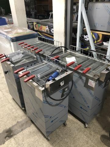 Fritadores /frituras - industriais água e óleo / elétrico ou gás / - a partir r$ 2290,00 - Foto 5