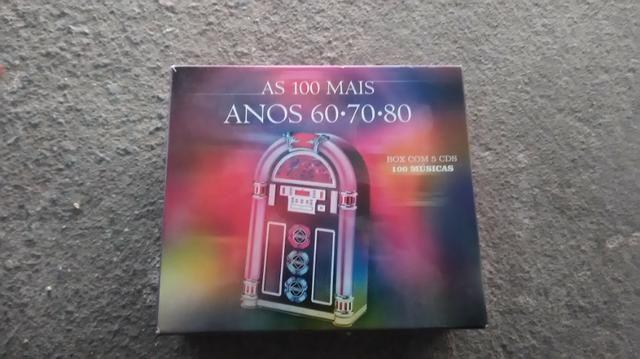 As 100 Melhores Anos 60 70 80 Box Com 5 Cds