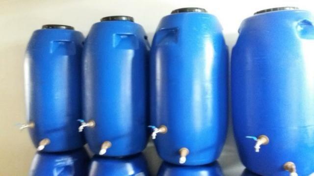 Tambor Cisterna 250 Litros Completa Com Torneira e Registro VAP - (Reservatório/Bombona/Ba - Foto 3