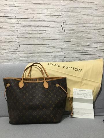 1e9a5777a Bolsa Louis Vuitton Neverfull MM - original - Bolsas, malas e ...