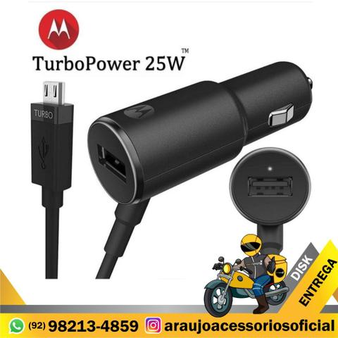 Carregador Carros Turbo Charger+ 25w Motorola Original