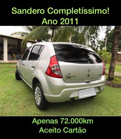 SANDERO COMPLETO! CARRO DE MULHER / MANUAL + CHAVE RESERVA!