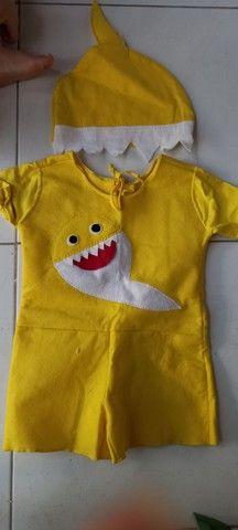 Fantasia Baby Shark 1 e 2 anos