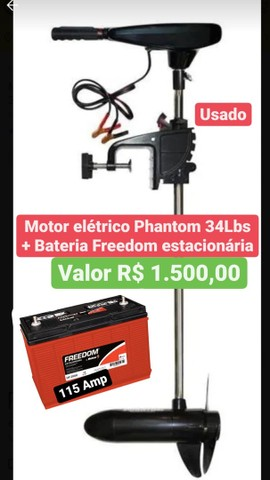 Motor Eletrico + bateria