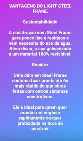 Steel Frame (CASAS AMERICANAS) (CASA EUROPEIA) melhor preço de Curitiba - Foto 4