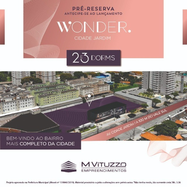Breve Lançamento do Wonder no Cidade Jardim!