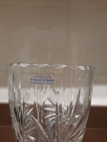 Vaso Princess e Queen 24% Lead Crystal - Foto 2