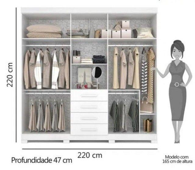 Guarda-roupa (2,20x2,20) em MDF, Novo  - Foto 3