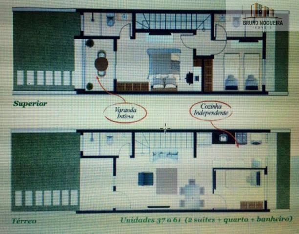 Casas duplex em condominio no eusebio com 3 quartos e lazer - Foto 19